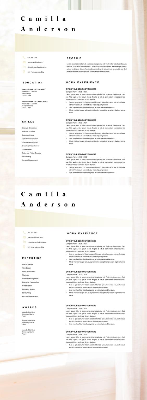 Resume Template Microsoft Word Professional Cv Layout Marketing Resume Modern Resume Perfect Cv Template Hr Resume Resume Template Cv Template Job Resume Template