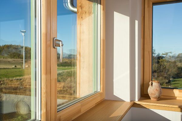 Interior shot of the Passive house case study, Fife, Scotland.