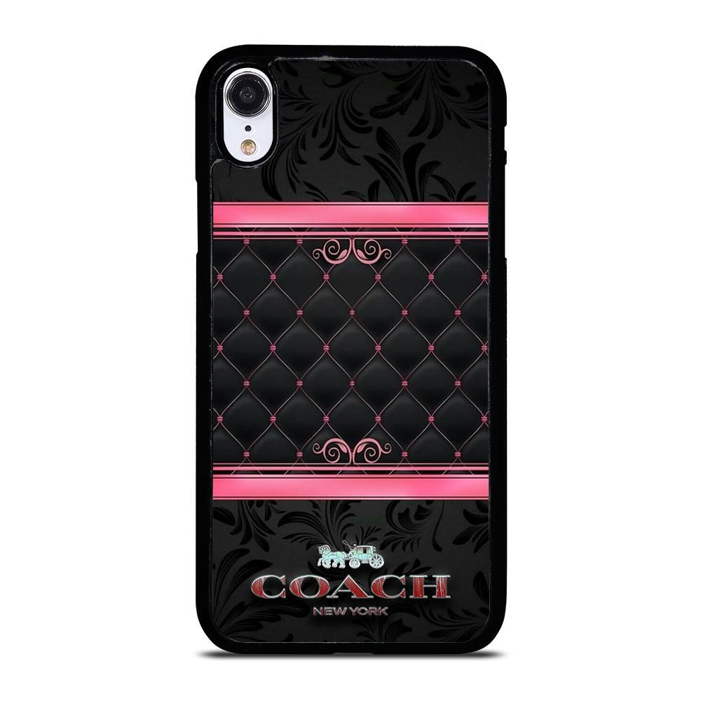 Coach new york pink black iphone xr case cover