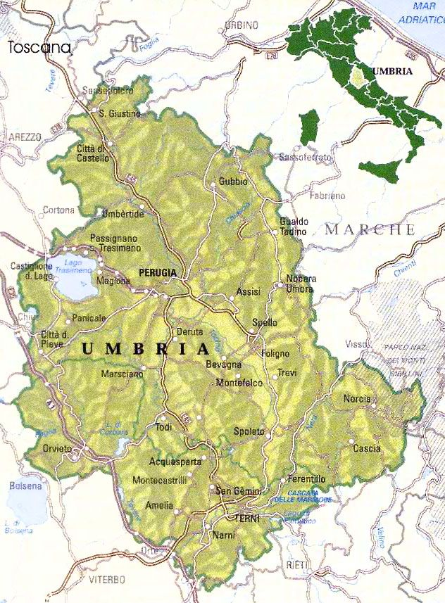 Tour Umbria Map of Umbria Italy Italy Pinterest Umbria