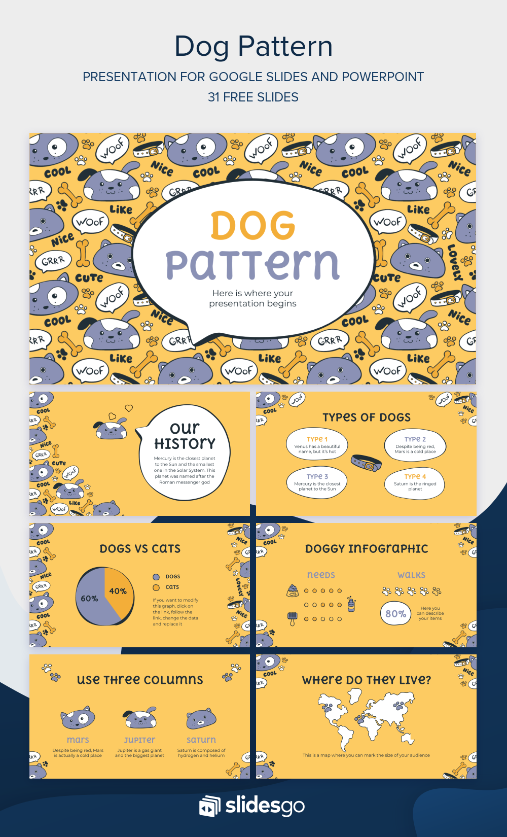 Play With Your Dearest Dog With This Cute And Lovely Google Slides Theme And Powerpoint Template For Your Powerpoint Templates Google Slides Themes Powerpoint