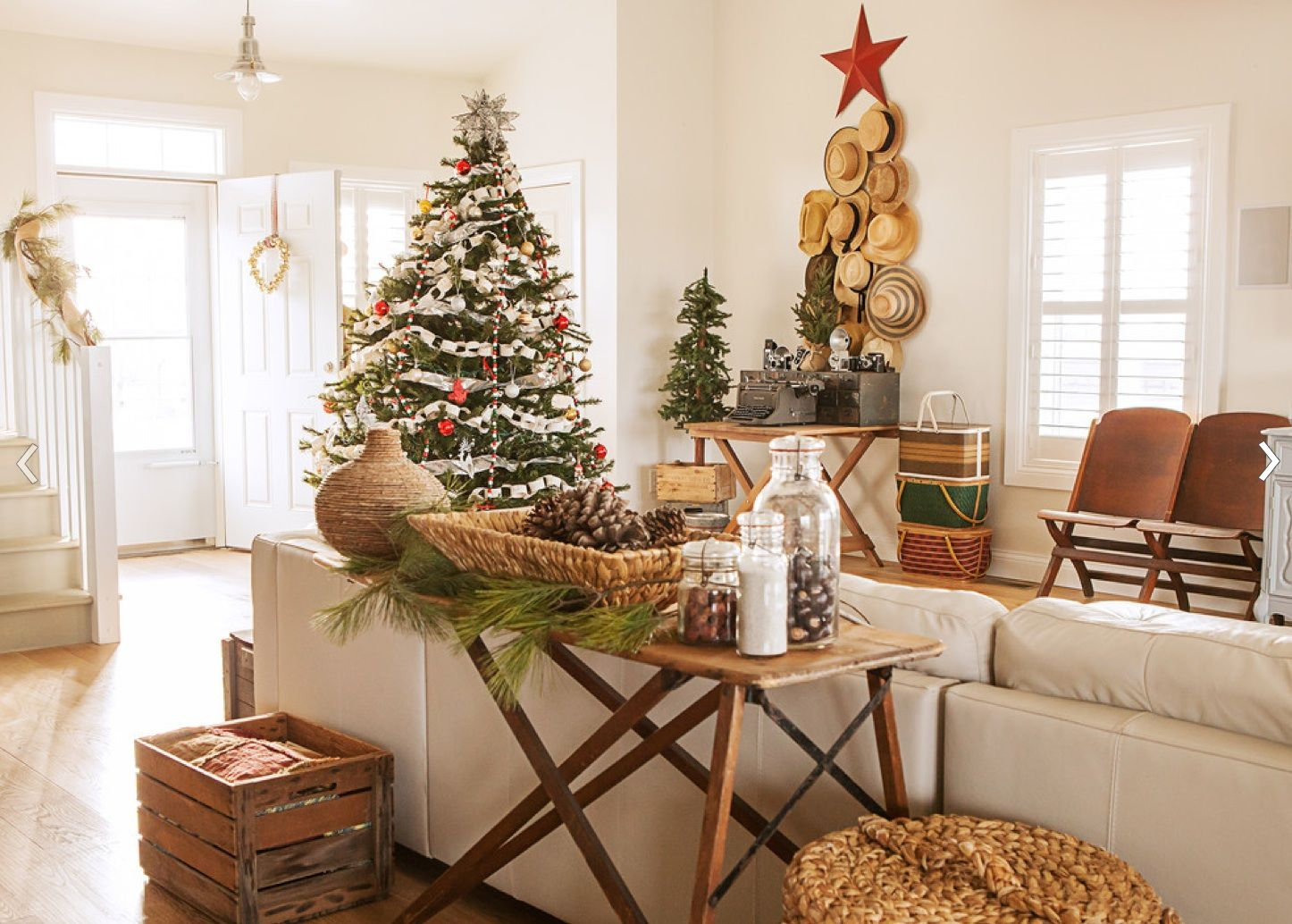 rustic christmas tree decorating ideas | holiday 2015 | pinterest