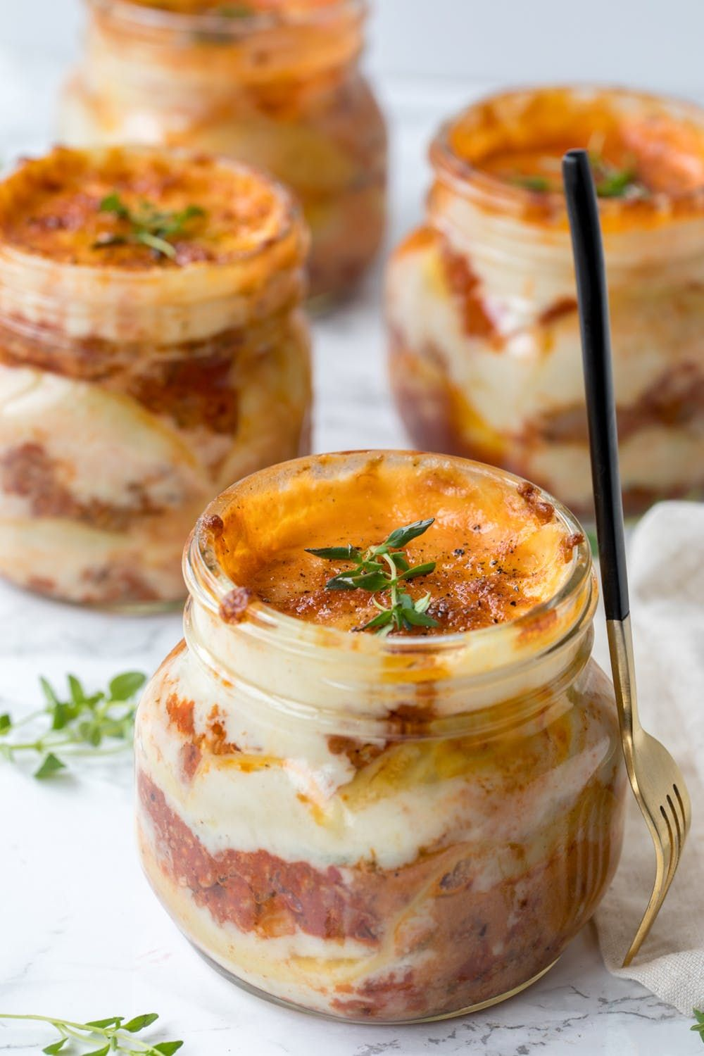 This Mason Jar Lasagna Recipe Is What Lunch Dreams