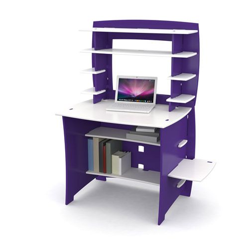 no tools assembly select student desk with hutch purple and white kids 39 teen rooms. Black Bedroom Furniture Sets. Home Design Ideas