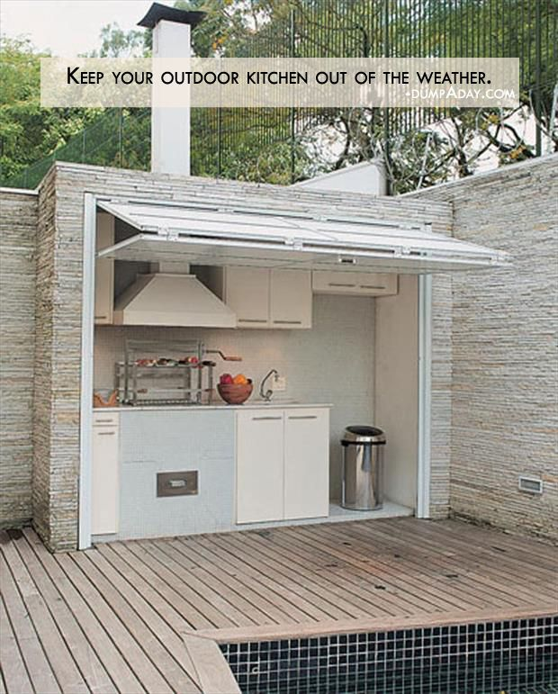 simple outdoor kitchen do it yourself genius ideas keep your outdoor kitchen out of the weather garden