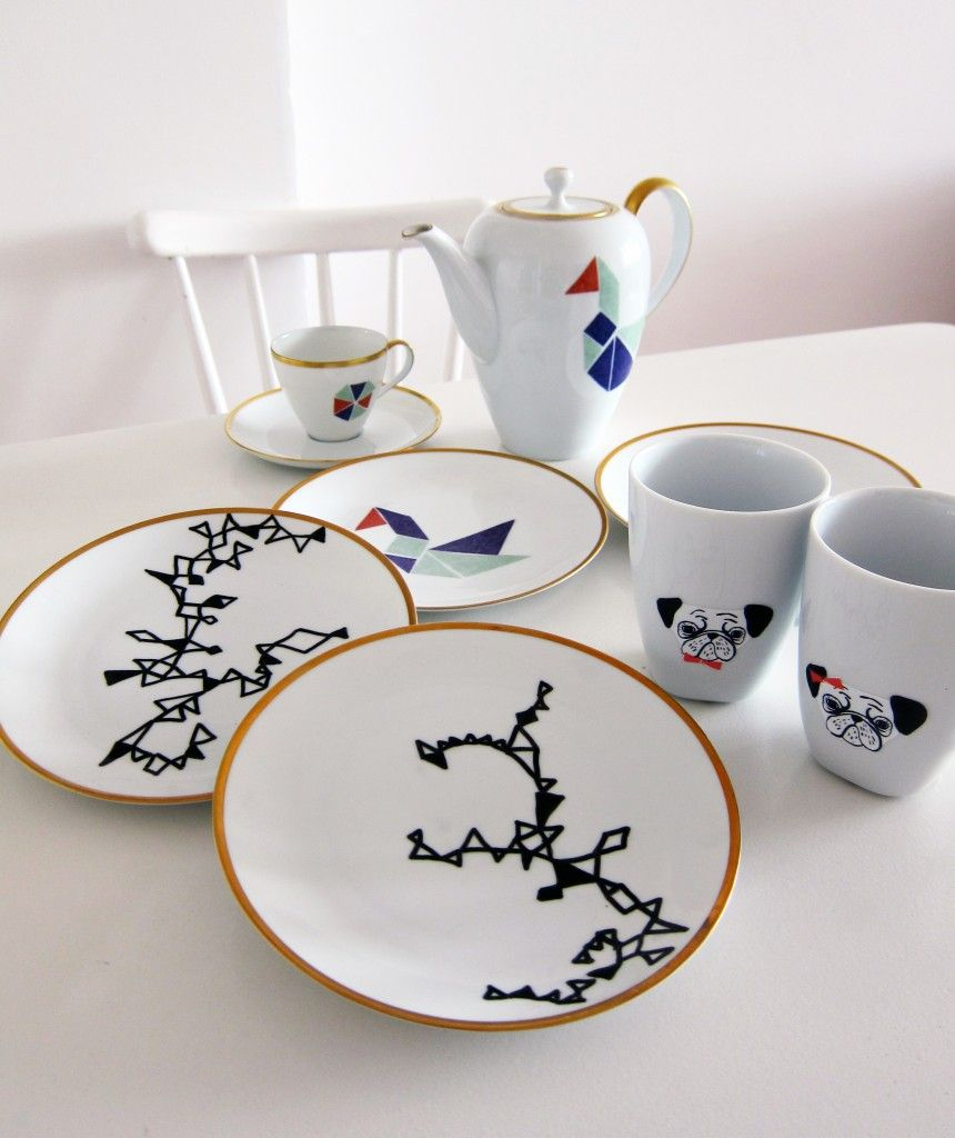 diy anleitung porzellan bemalen via crafting hand painted dishes ceramic