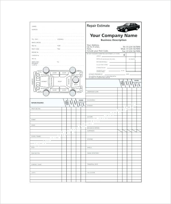 Repair Estimate Templates Word Excel Free Premium Auto Repair Estimate Template Car Repair Invoice T Auto Repair Estimates Estimate Template Car Repair Service