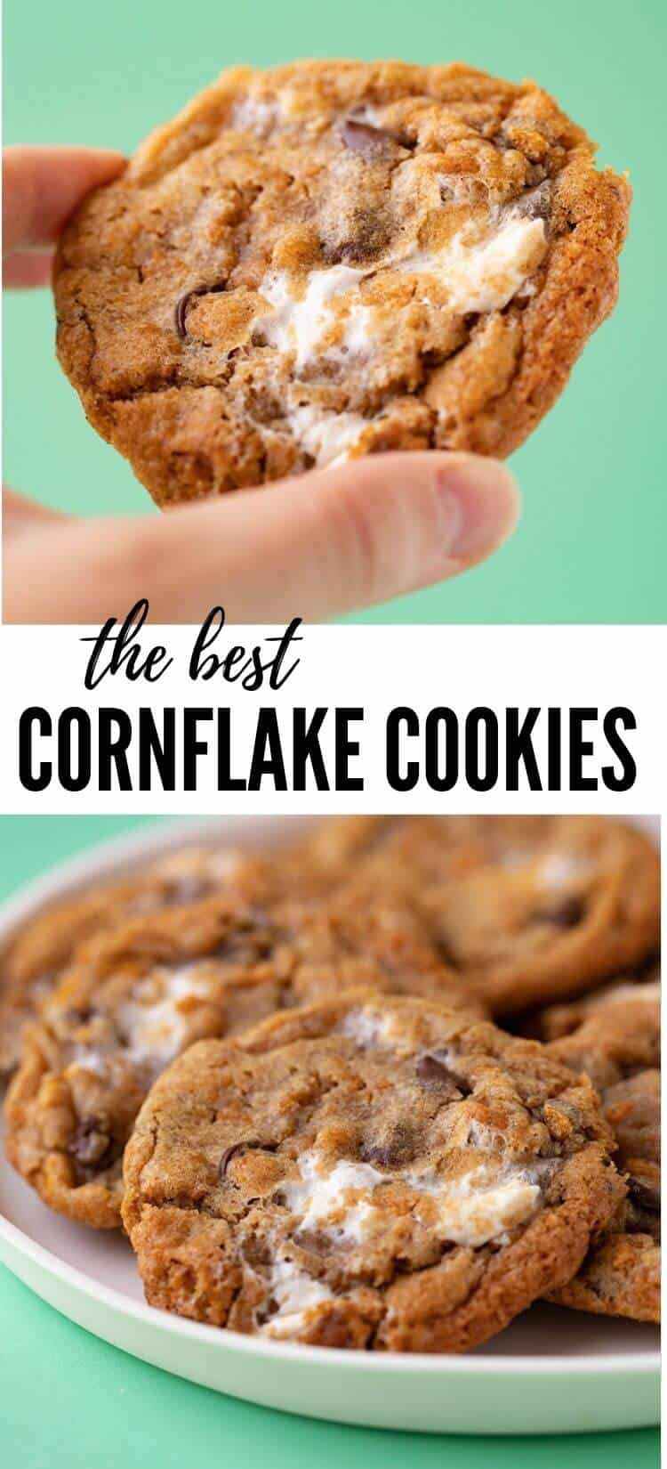 Chewy Cornflake Marshmallow Cookies #marshmallow