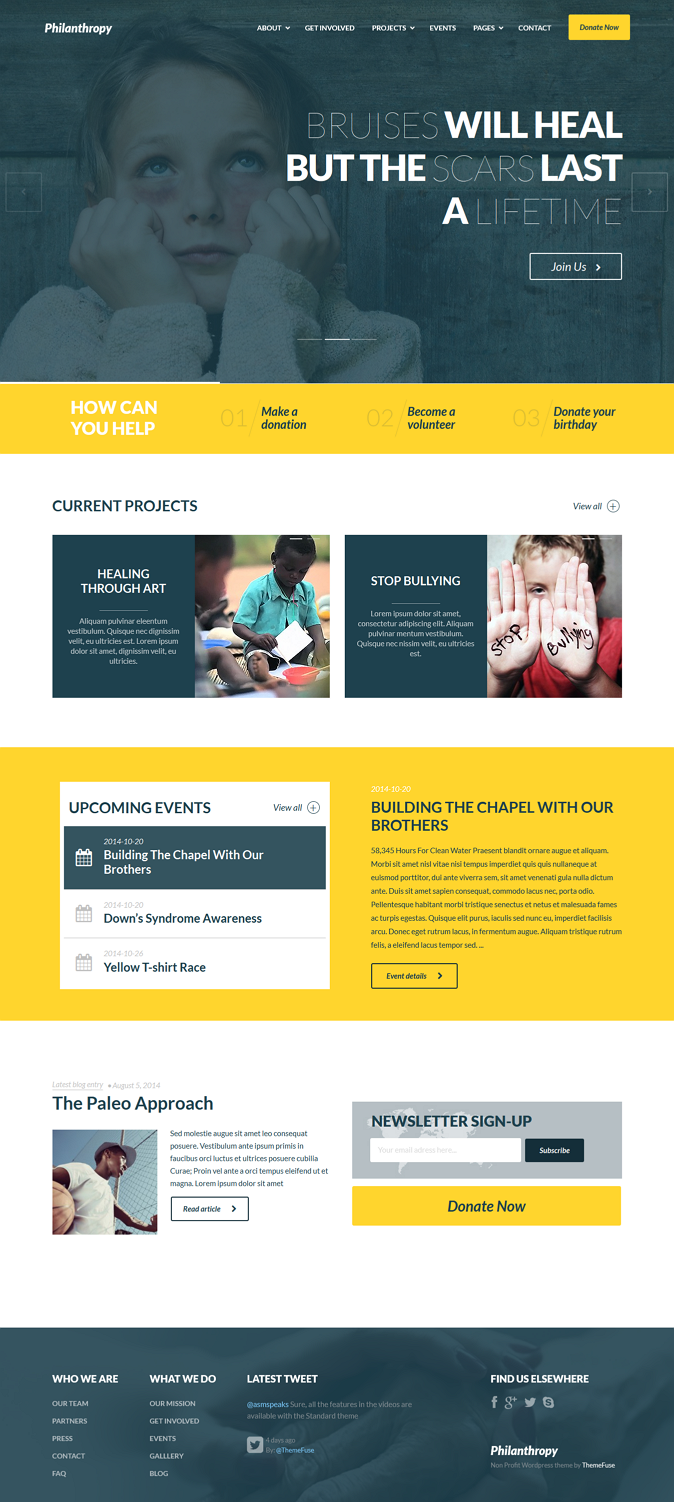 Nonprofit Website Theme Png 674 1502 Website Themes Wordpress Theme Responsive Web Design Inspiration