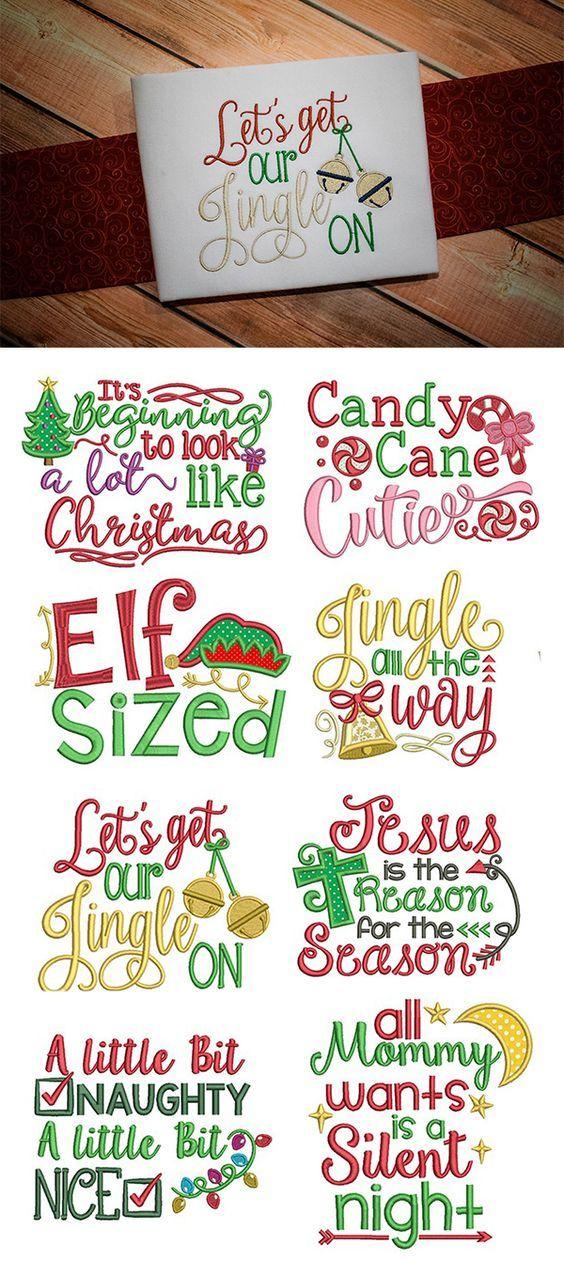 Our Christmas Word Art design set is 8, super adorable Christmas ...