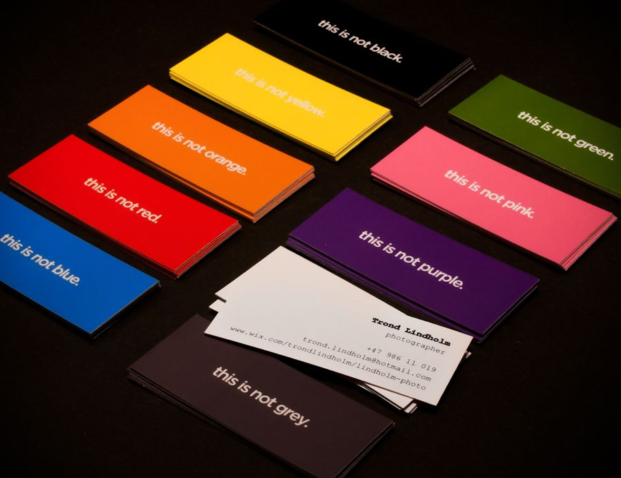 More colored tiny business cards. Love the small size. Check out www ...