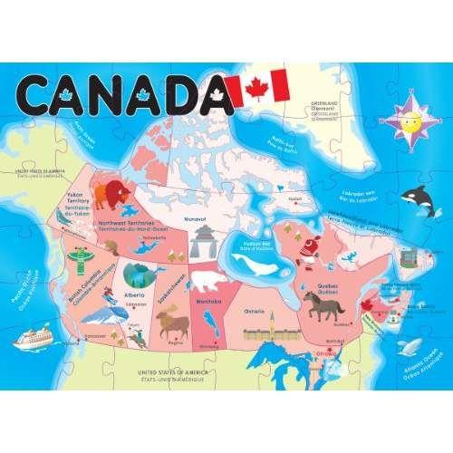 Ingenio Canada Map Floor Puzzle Vipkids Map Puzzle