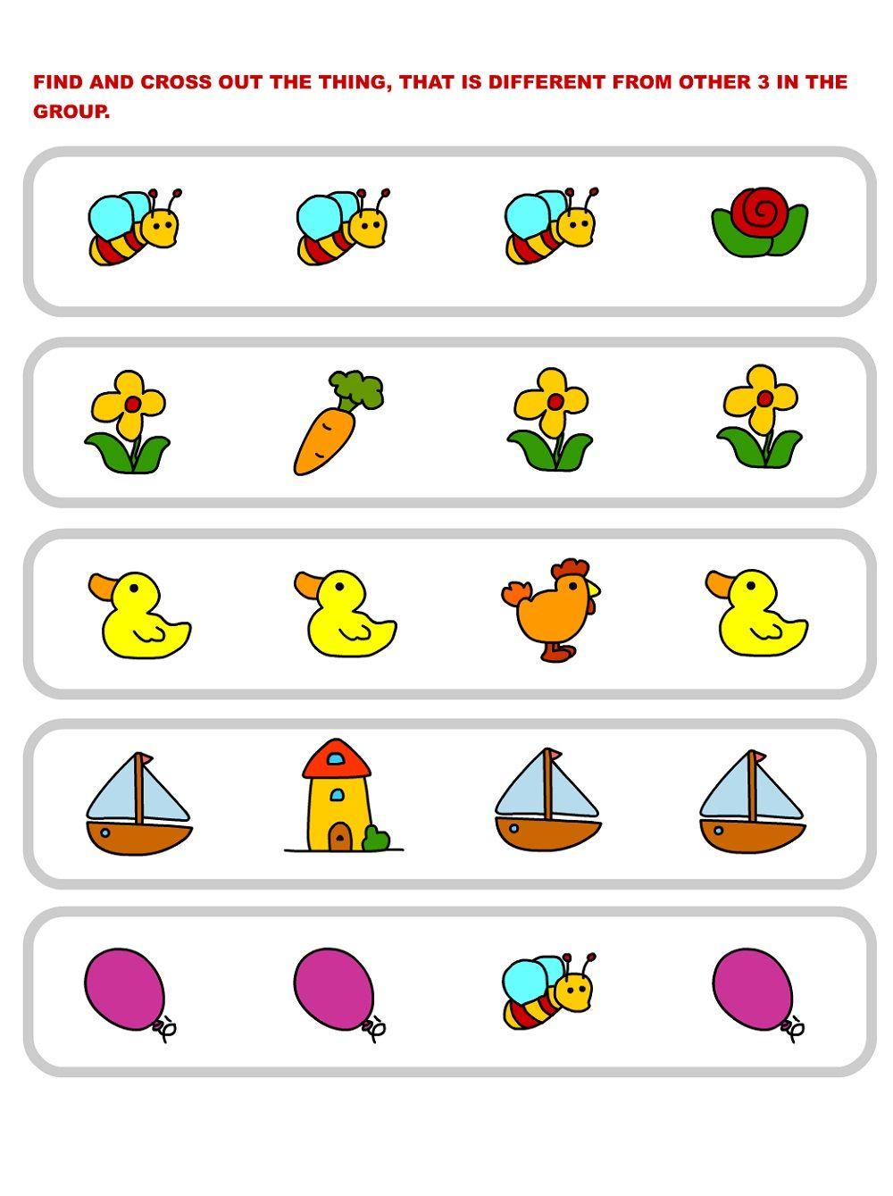 Same Or Different Worksheets Printable Fun Worksheets For Kids Worksheets For Kids Fun Worksheets [ 1339 x 1000 Pixel ]