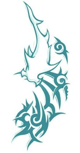 Our Tribal Shark Xl Tattoo Is Inspired By The Oceans 11 Tattoo Worn