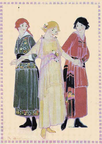 The first purpose of clothes was ornament.. - Katherine Porter Brown and Rachel Taft Dixon 1916
