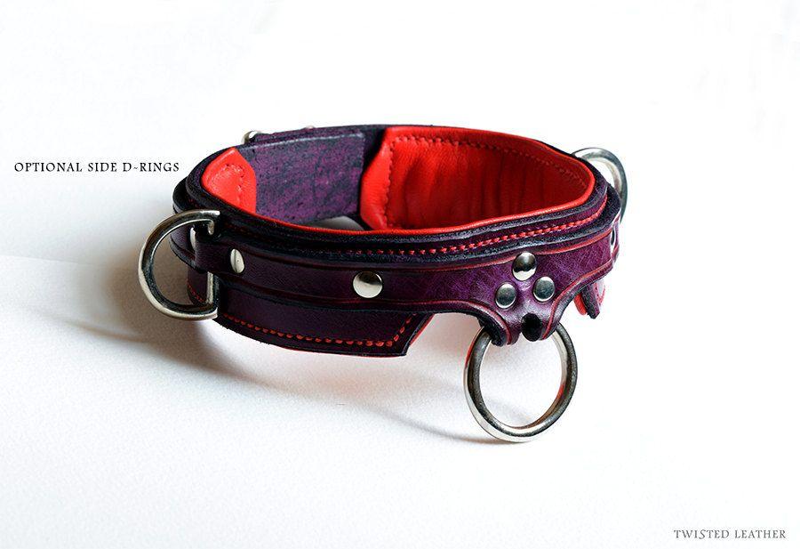 Bdsm Collar Leather Slave Collar Bondage Por Twistedleatheruk