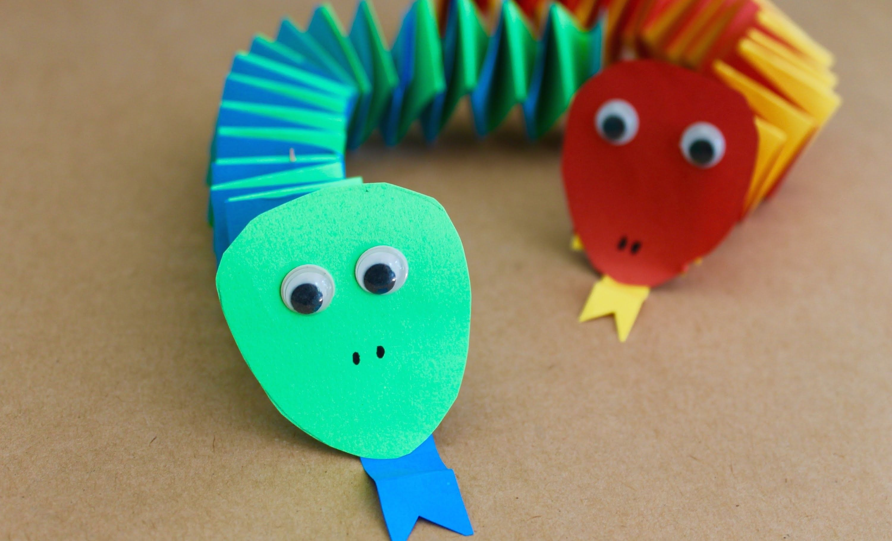 Easy Craft How To Make Paper Accordion Snakes