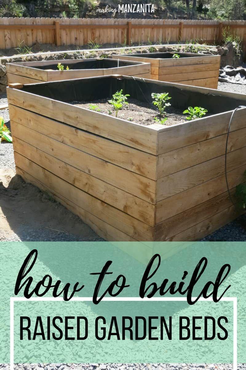 Diy raised garden beds using cedar boards grand gardening