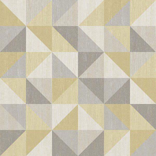 Nu2098 Jigsaw Yellow And Grey Peel And Stick Wallpaper By Nuwallpaper Yellow Geometric Wallpaper Geometric Wallpaper Wallpaper Samples