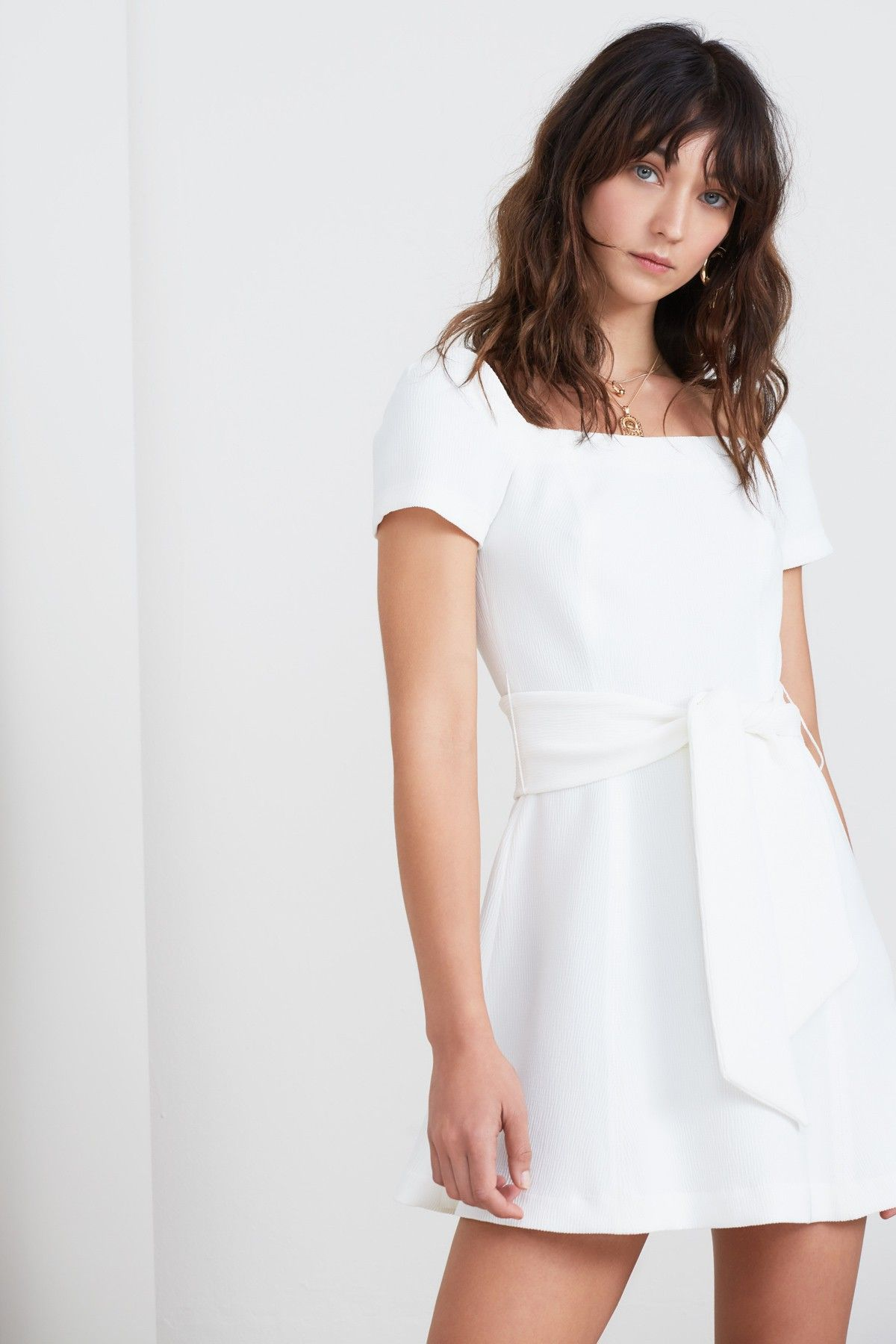 Vice Mini Dress Ivory Finders Keepers Bnkr White Dress Dresses Mini Dress