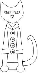 Pete the Cat cut and paste buttons activity available at