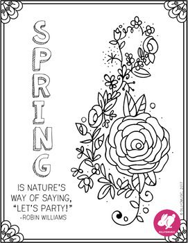 Spring Treble Clef Coloring Page Freebie | COLORING BOOK ...