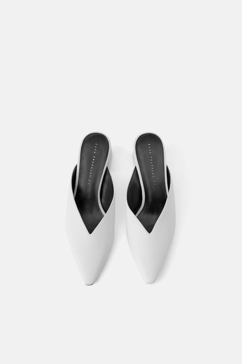 Klapki Typu Mules Na Obcasie Z Wycieciem Buty Kobieta Shoes Bags Zara Polska Heeled Mules Heels Women Shoes