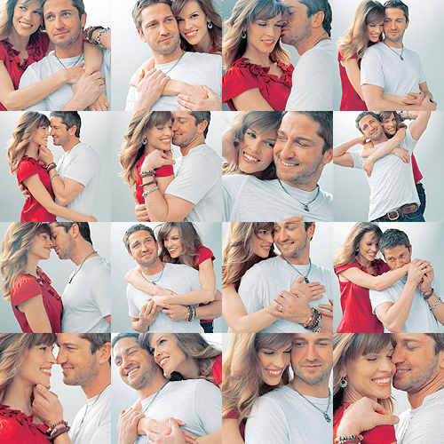 P. S. I Love You Special Photoshoot---- I like to think Gerard Butler was pretending I was there with him. =)