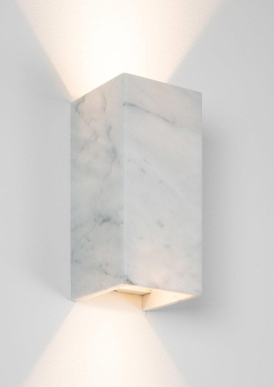B8 White Carrara Marble Wall Light - Gantlights - Marble, Marble
