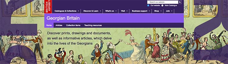 Georgian Britain Resources at the British Library online