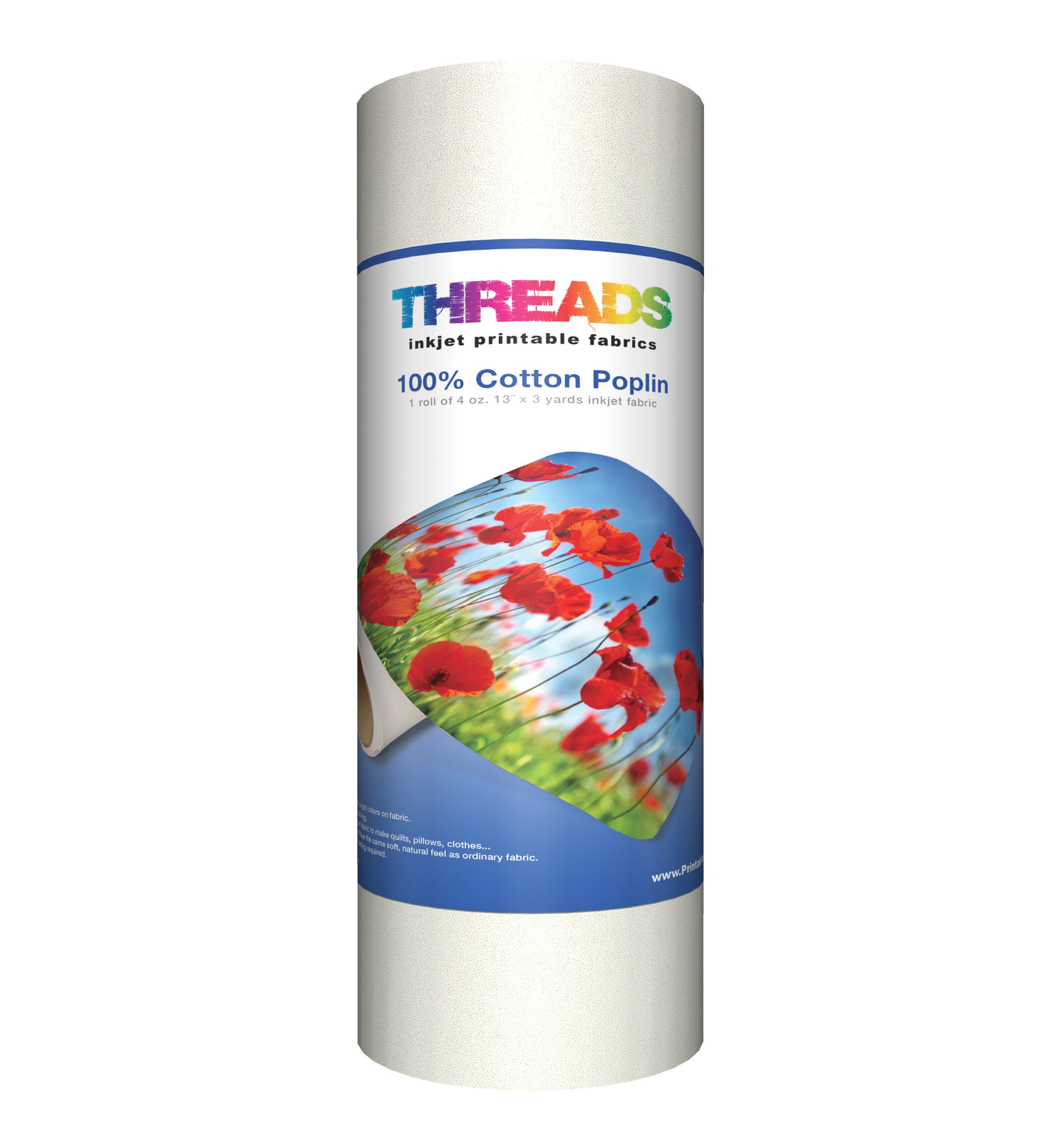 Cotton poplin inkjet fabric in x yds quiltweight oz cotton