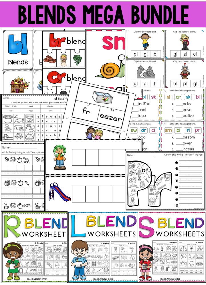 Beginning Blends Worksheets Consonant Blend Worksheets L R ...