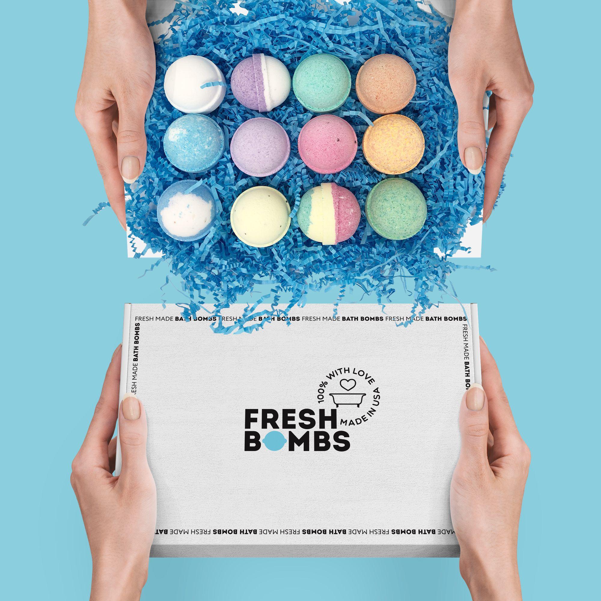 Box of fresh bath bombs 19,90 dollars on Amazon use 15% ...