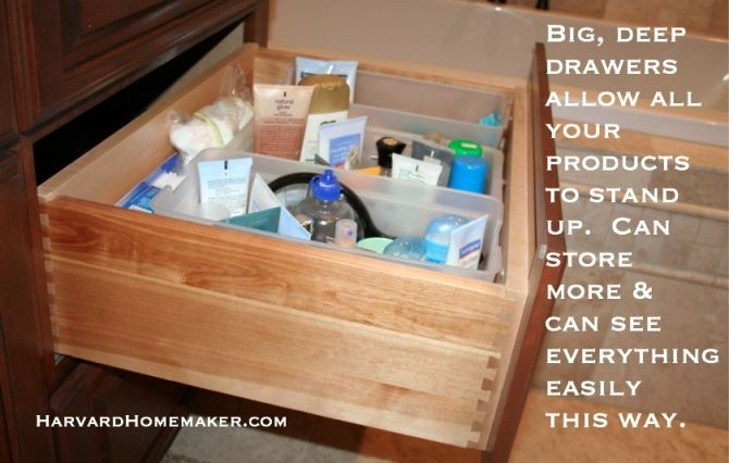 Install Deep Drawers To Organize Your
