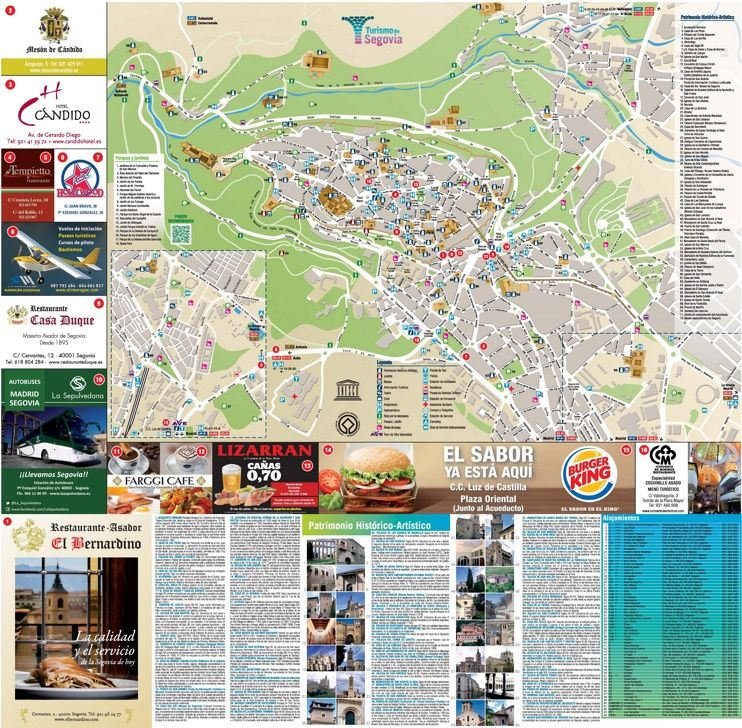 Segovia tourist map Maps Pinterest Tourist map Spain and City