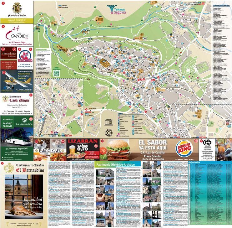 Segovia tourist map Maps Pinterest Tourist map Spain and City
