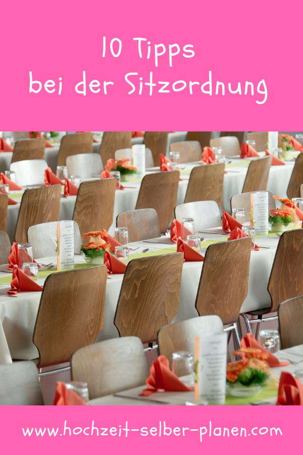 10 Tipps bei der Sitzordnung | Sitzordnung hochzeit