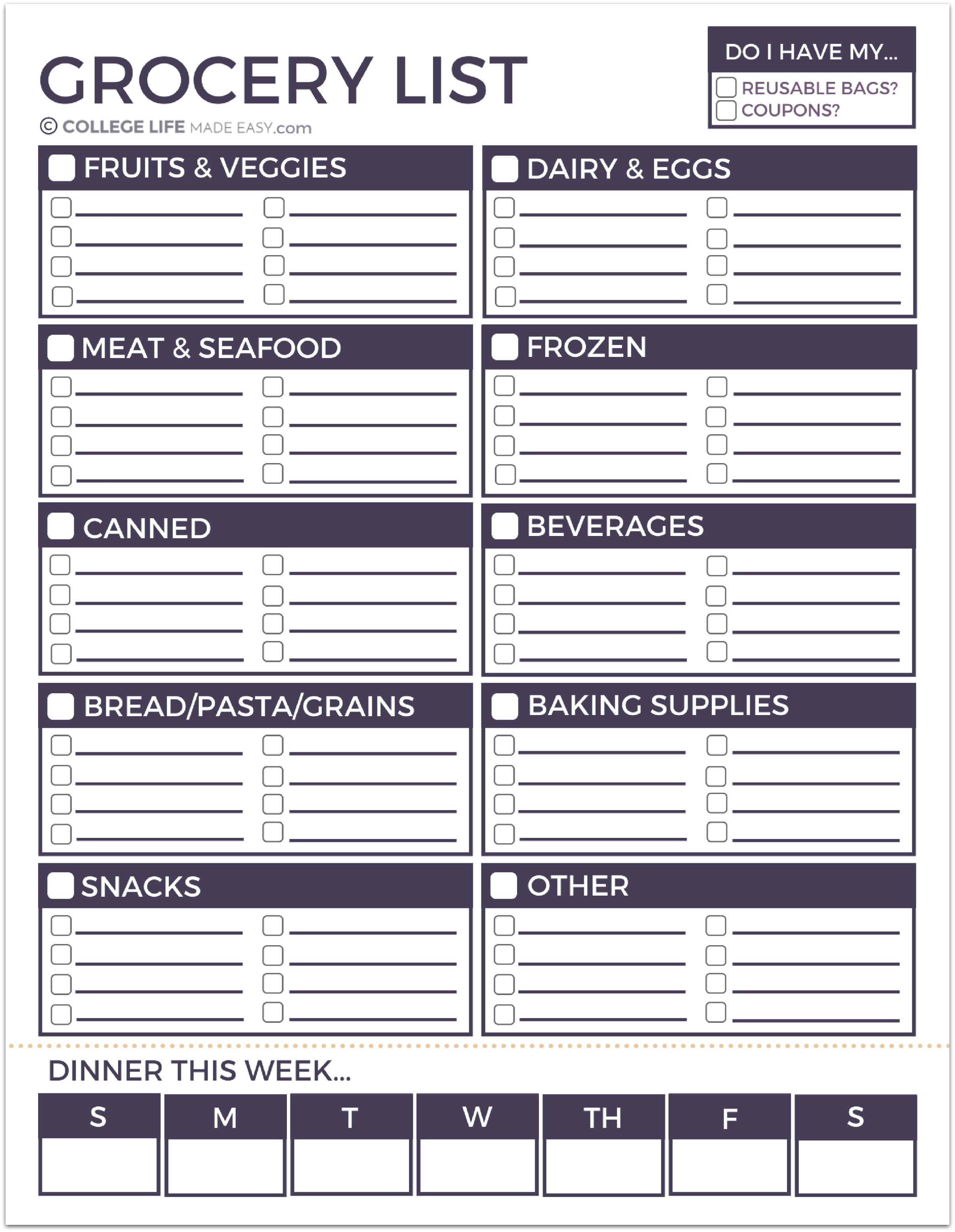 Grab My Printable Grocery List For Free Here Click To