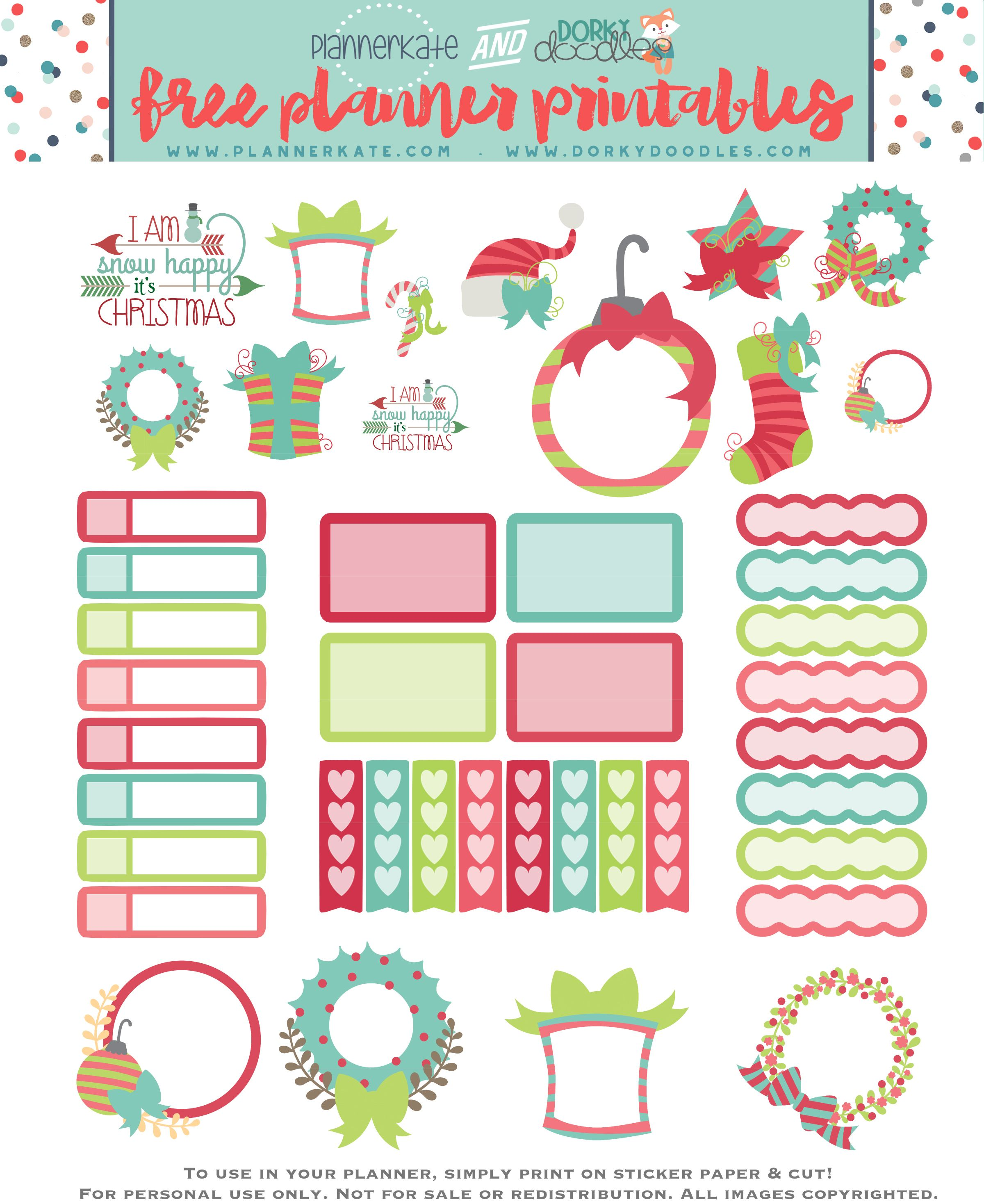 Free Printable Christmas Planner Stickers