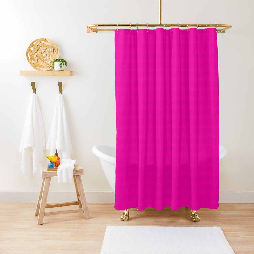 Hot Pink Castle Stripe Shower Curtain By Pagedesigns With Images