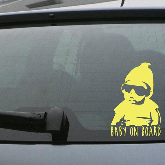 FREE SHIPPING Baby On Board Car Decal Custom Size And By DecalChic - Custom design car decals free