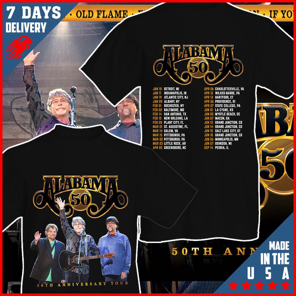 2f5a9ae79 Alabama Band 50th Anniversary Tour 2019 Fan T shirt Black Cotton T-Shirt  #fashion #clothing #shoes #accessories #mensclothing #shirts (ebay link)