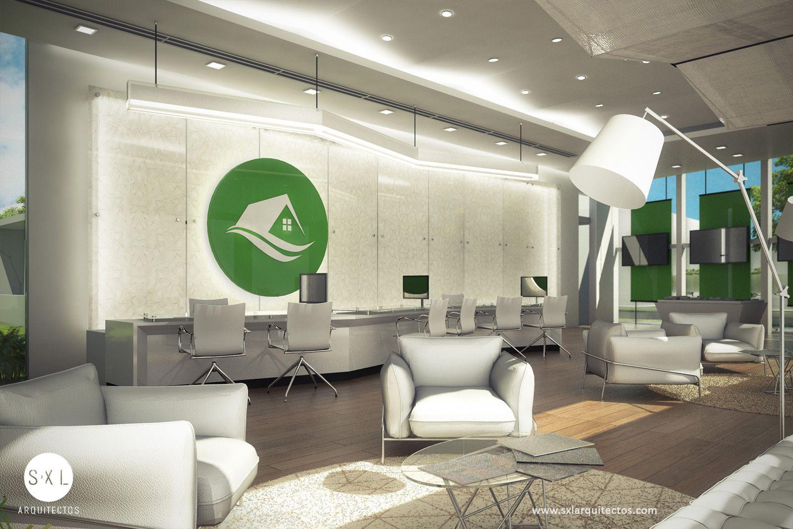 Dise o interior sala de ventas espacio de atenci n al for Espacio interior