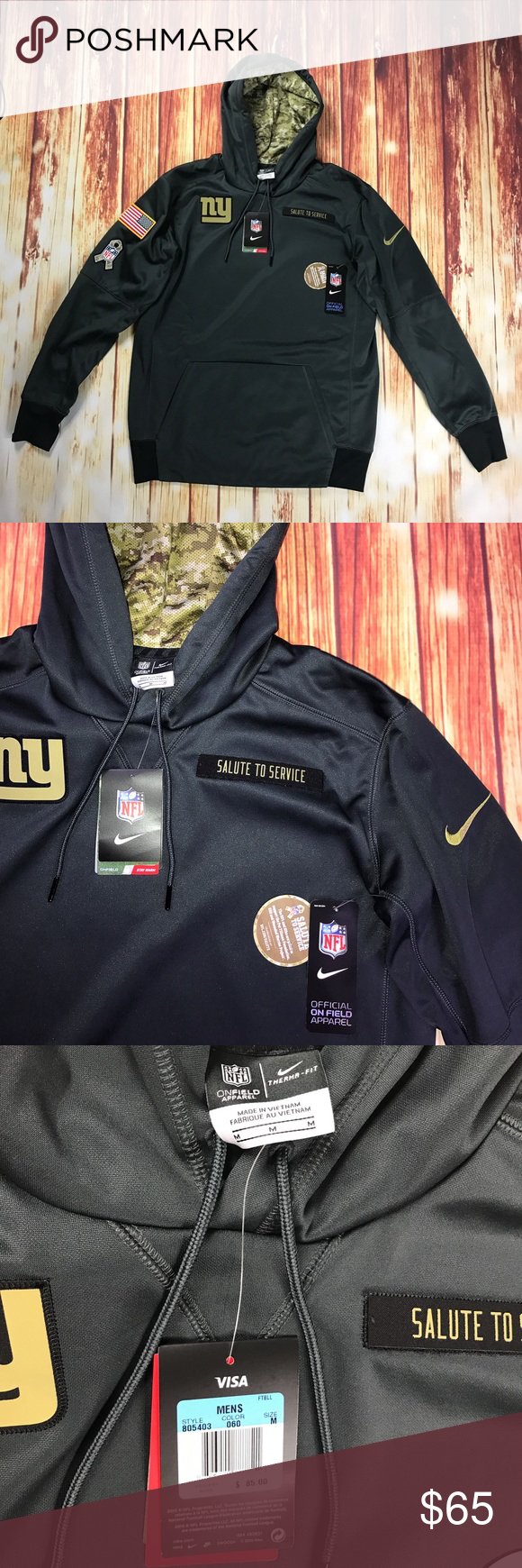 best sneakers d546b fbbe3 Nike New York Giants NFL Salute To Service Hoodie This Is a ...