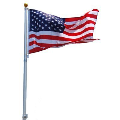 Top Quality 16 16 Ft Feet Aluminum Telescoping Flag Pole Kit With The United States Of America Usa Flag By Oem C Telescoping Flagpole Flag Pole Kits Flag Pole