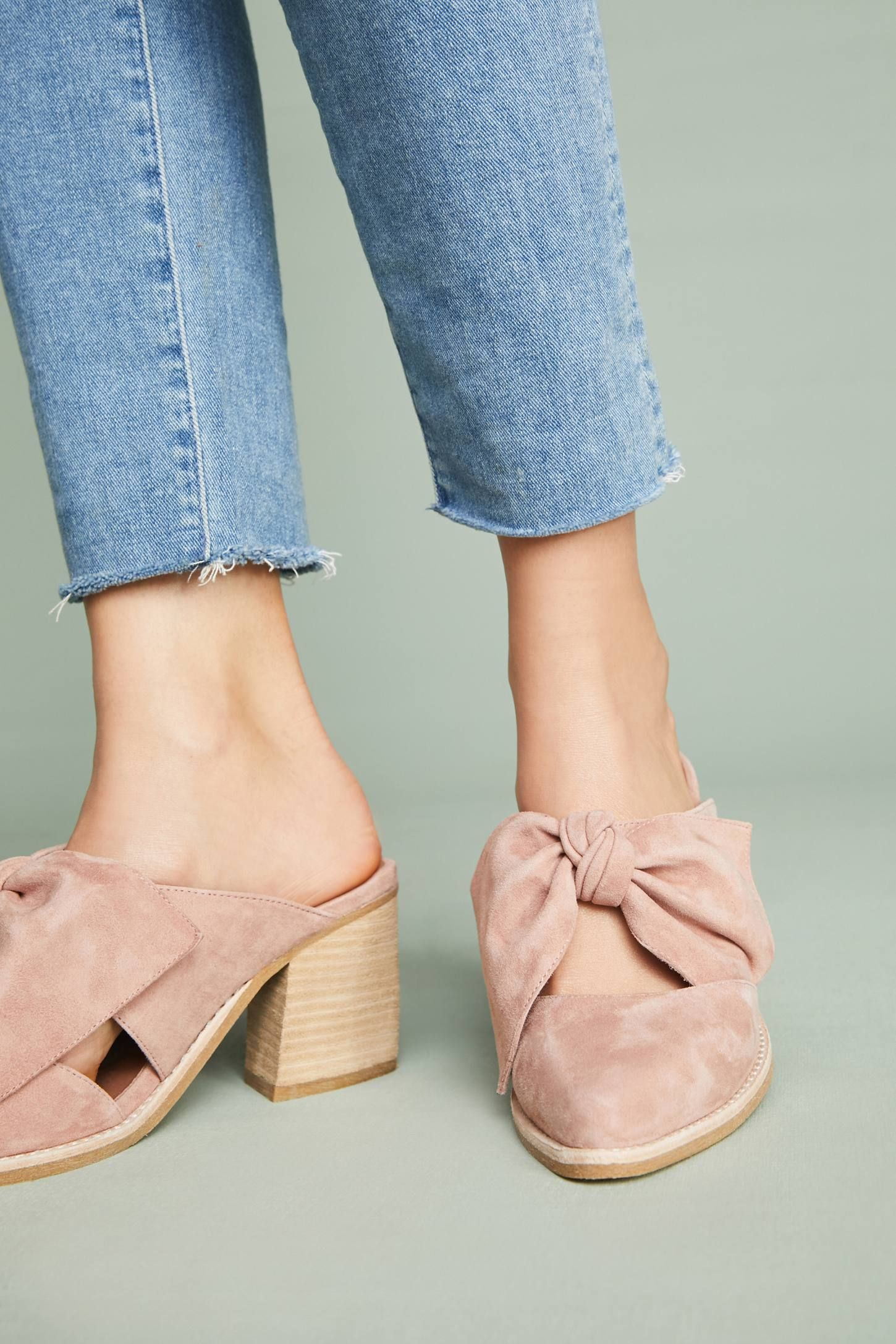 4f4963382b0 Shop the Jeffrey Campbell Cyrus Bow Mules and more Anthropologie at  Anthropologie today. Read customer reviews