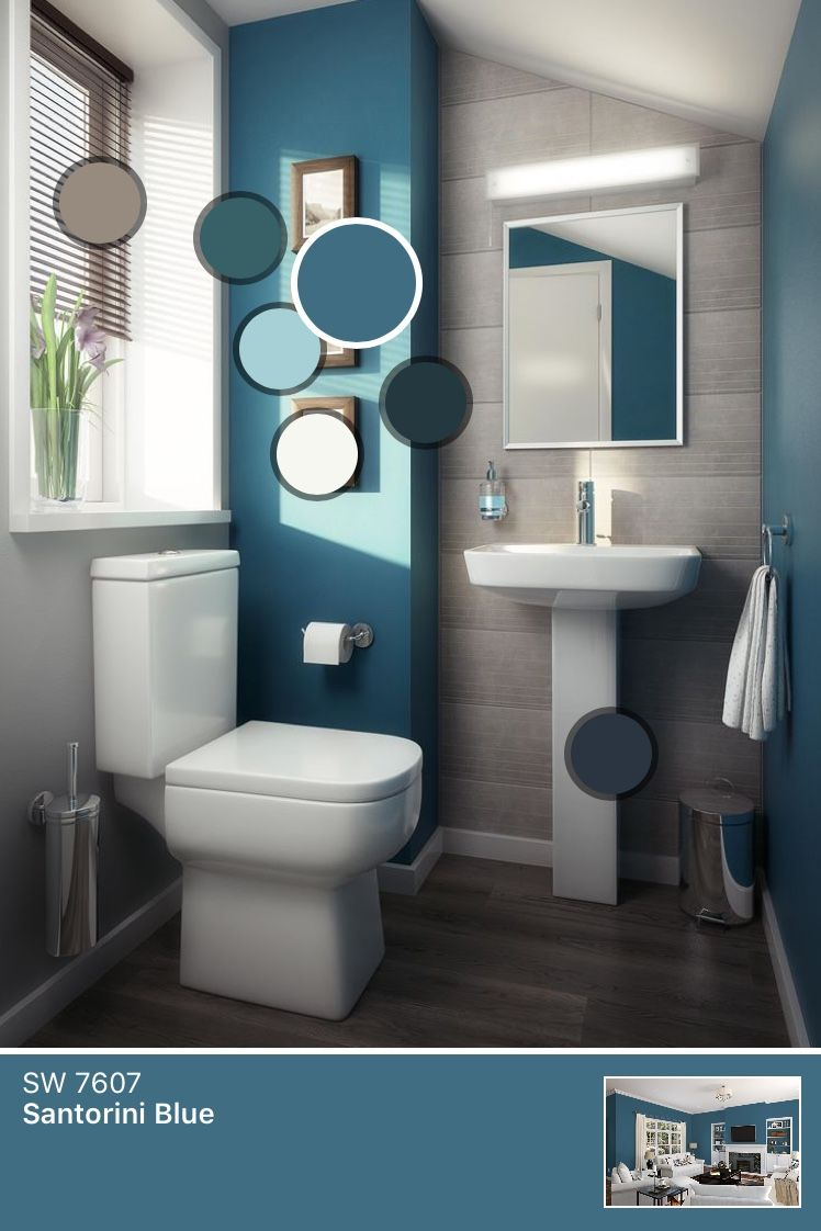 charming blue bathroom color schemes | Love the color scheme | Small bathroom paint, Modern ...