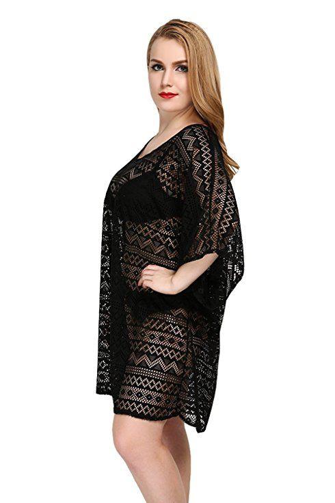 ed1a14cae6646 Women's Beach Cover Up Sexy Lace Swimsuit Beachwear Dress Bikini Swimwear  Crochet Tunic at Amazon Women's Clothing store: