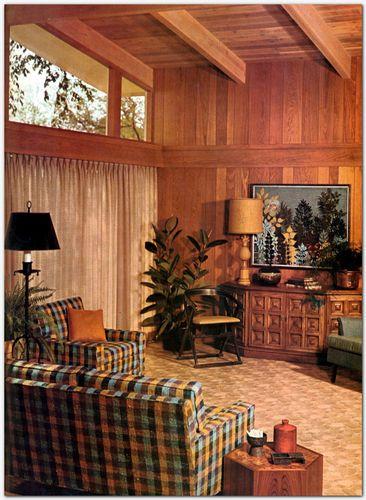 1971 Home Interior Decorating Old School Mid Century Modern Design