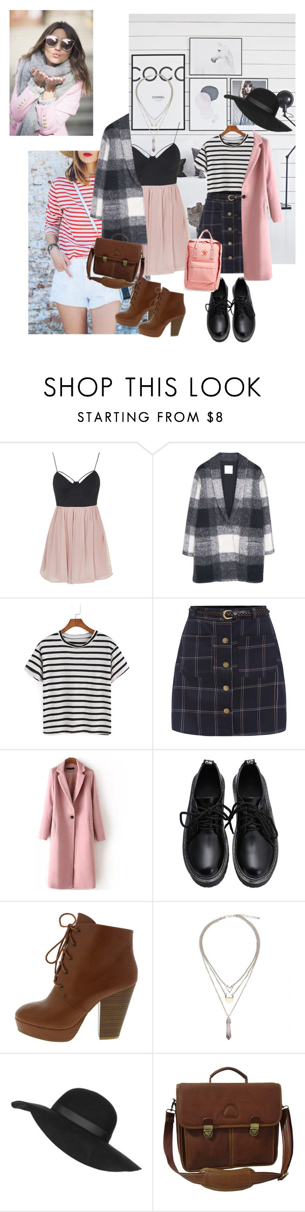 """""""Girly sandinavian pastel outfits """" by xbutterbee ❤ liked on Polyvore featuring Topshop, MANGO, AmeriLeather and Fjällräven"""